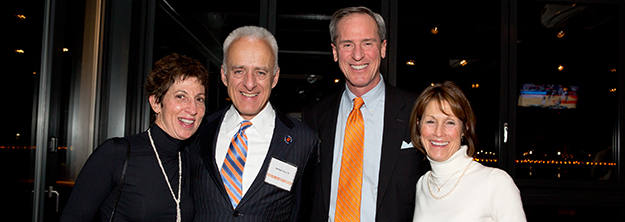 Alumni at an event